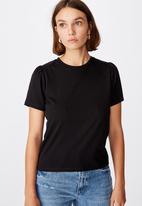 Cotton On - Puff sleeve short sleeve top - black