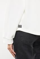 G-Star RAW - Graphic text relaxed sweat top long sleeve - milk
