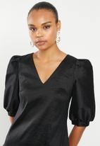 MILLA - Taffeta statement dress - black