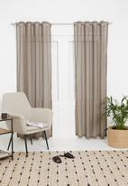 Sixth Floor - Eyelet striped frosted voile - taupe