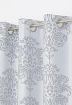 Sixth Floor - Eyelet lined woven jacquard curtain - grey