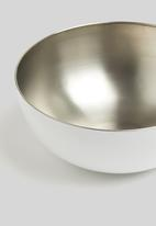 Excellent Housewares - Stainless steel bowl - white