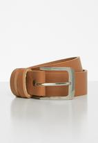 Superbalist - Riaaz classic leather belt - tan