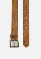 Superbalist - Abe leather weaved belt - cognac