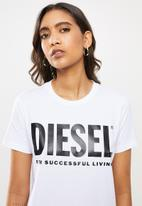 Diesel  - T-sily T-shirt - white
