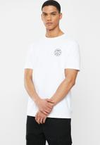 Element - Crossed short sleeve tee - white