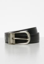 Pringle of Scotland - Cailee reversible belt - black & white