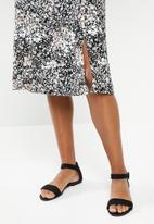 edit - Curved waist midi dress - black