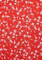 edit - V-neck tiered maxi dress - red