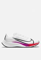 Nike - Air Zoom Pegasus 37 - white  /flash crimson-hyper violet