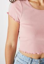 Cotton On - Turnback short sleeve top - rose musk