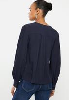 edit - Balloon sleeve shirt - navy