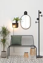 Present Time - Plate multi wall lamp - black