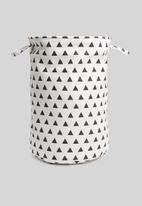 Bathroom Solutions - Triangle laundry basket - black & white