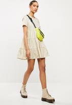 Blake - Cotton poplin tiered dress - beige