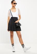 Blake - Tiered mini skirt - black
