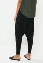 edit - Knit harem pant - black