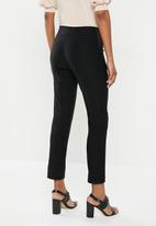 edit - Twin needle formal skinny jegging - black