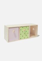 Typo - Trio drawer storage - multi