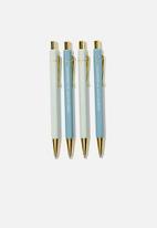 Typo - Hexe pen pack - blue & white