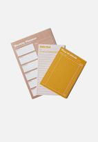 Typo - Notepad 3 pack - heather and mustard