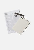 Typo - Notepad 3 pack - white and green