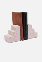 Typo - Cement bookends - purple