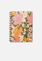 Typo - A5 campus notebook recycled - 70s floral