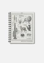 Typo - A5 campus notebook recycled - species of the desert