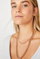 Rubi - Dani double layer chain necklace - gold