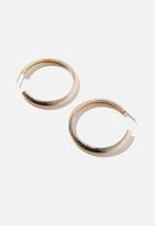 Rubi - Natalie herringbone hoop bar - gold