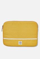 Typo - Canvas 13 inch laptop case - yellow