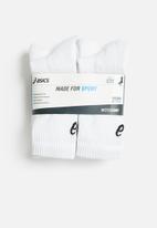 Asics - 6 Pack crew sock - white