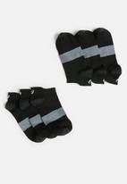 Asics - 3 Pack lyte sock - black & grey