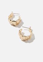 Rubi - Jess small molten hoop bar - gold