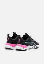 PUMA - Zone XT - black / white-luminous pink-aruba blue
