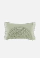 Linen House - Daybreak cushion cover - wasabi