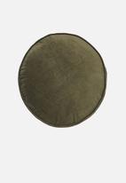 Linen House - Toro round cushion - olive