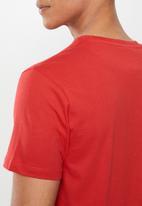 KAPPA - Authentic essor slim 984 tee - red & white