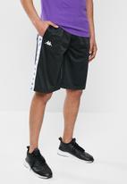 KAPPA - 222 banda treadwell shorts - black