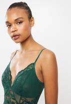 GUESS - Milla lace inset bodysuit - green