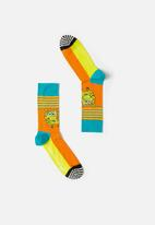 Happy Socks - Spongebob let's work it out sock - multi