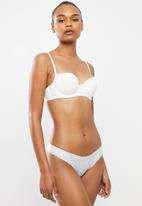 Cotton On - Lily lace g-string brief micro tulip ditsy - white & blue