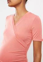 Cherry Melon - Wrap top - pink