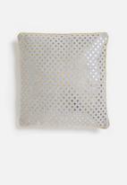 H&S - Glitter cushion - grey & gold