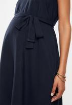 Cherry Melon - Belted tunic dress - navy