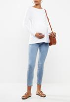 Cotton On - Maternity 2 in 1 long sleeve top - white