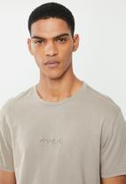 RVCA - Small RVCA embroidery short sleeve tee - overcast