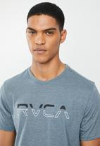 RVCA - Split pin short sleeve  tee - blue