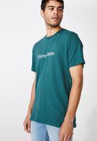 Cotton On - Tbar text T-shirt - teal